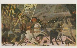 Paolo Uccello Battle Of San Romana Military National Gallery Painting Postcard