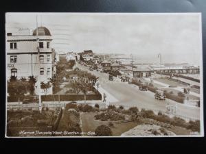 Essex: Clacton on Sea, Marine Parade West c1929 RP showing Pier & Gardens