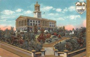 LP41  Nashville  Tennessee Postcard State Capitol