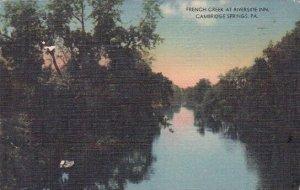 French Creek At Riverside Inn Cambridge Springs Pennsylvania 1961
