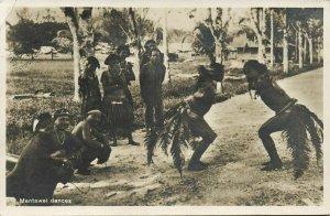 indonesia, MENTAWAI MENTAWEI, Native Males Dancing (1938) RPPC Postcard