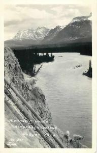 RPPC Mountain Goats, Athabasca Lookout, Jasper Park, Alberta, Canada