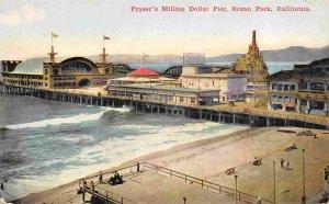 Fraser's Million Dollar Pier Ocean Park Los Angeles California 1910c postcard