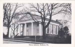 HATBORO , Pennsylvania , 50-60s ; Union Library