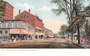 State Street Newburyport, Massachusetts Postcard