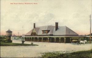 Middleboro MA RR Train Station c1910 Postcard