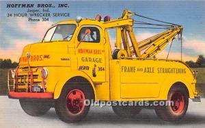 Linen - Tow Truck, Hoffman Bros., Inc, Jasper, Indiana, IN USA Advertising Po...