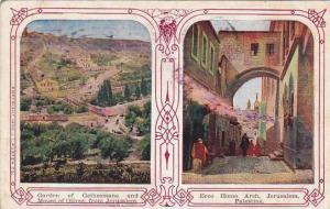 Jerusalem , Israel , PU-1910 ; Mount of Olives & Ecco Homo Arch