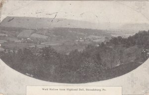 STROUDSBURG, Pennsylvania, PU-1914; Wolf Hollow from Highland Dell