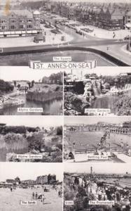 RP: ST. ANNES-ON-SEA [Lytham St Annes] , Lancashire , PU-1957 ; 7 view postcard