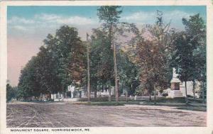 Maine Norridgewock Monument Square