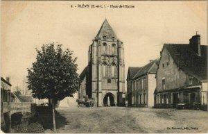 CPA BLÉVY - Place de l'Église (33402)