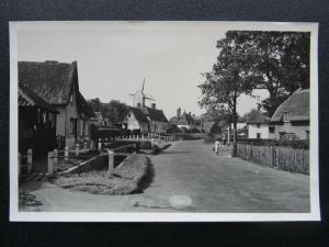 Essex FINCHINGFIELD VILLAGE SCENE & Finchingfield Post Mill - Old RP Postcard