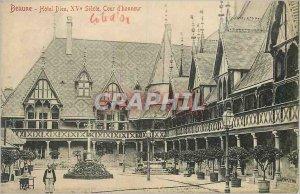 Old Postcard Beaune hotel xv century court of honor god