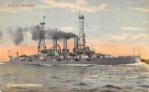 Military Battleship Postcard, Old Vintage Antique Military Ship Post Card USS...