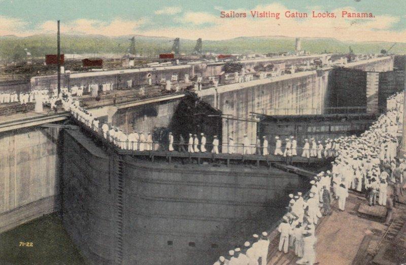 PANAMA CANAL , 00-10s ; Sailors Visiting Gatun Locks
