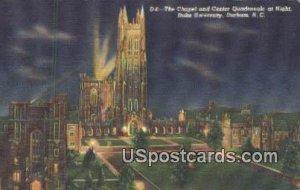 Chapel, Center Quadrangle, Duke University in Durham, North Carolina