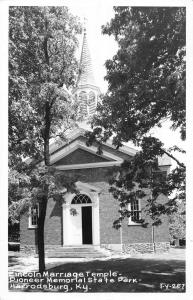 Harroddsburg Kentucky Lincoln Marriage Temple state park real photo pc Y10861