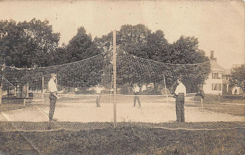 Pittsfield MA Tennis Court Signed H. W. Osgood Photographer RPPC Postcard