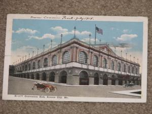 Convention Hall, Kansas City, MO., Early 1900`s, used