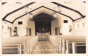 Hesperia MI~Christ the King Church~Interior~Wally at State Hospital~c1928 RPPC