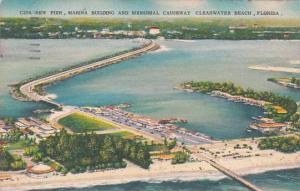 Florida ClearwaterBeach New Pier Marina Building And Memorial Causeway  1959