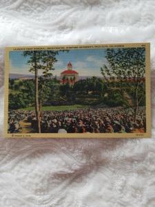 Antique Postcard, Laurence Frost Memorial Amphitheatre, Stanford University