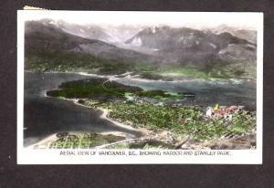 BC Aerial Vancouver Stanley Park British Columbia Canada Carte Postale Postcard