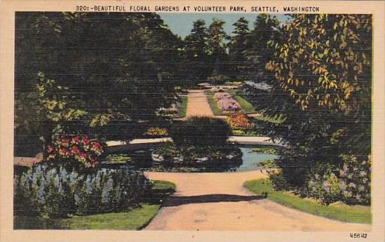 Washington Seattle Beautiful Floral Gardens At Volunteer Park