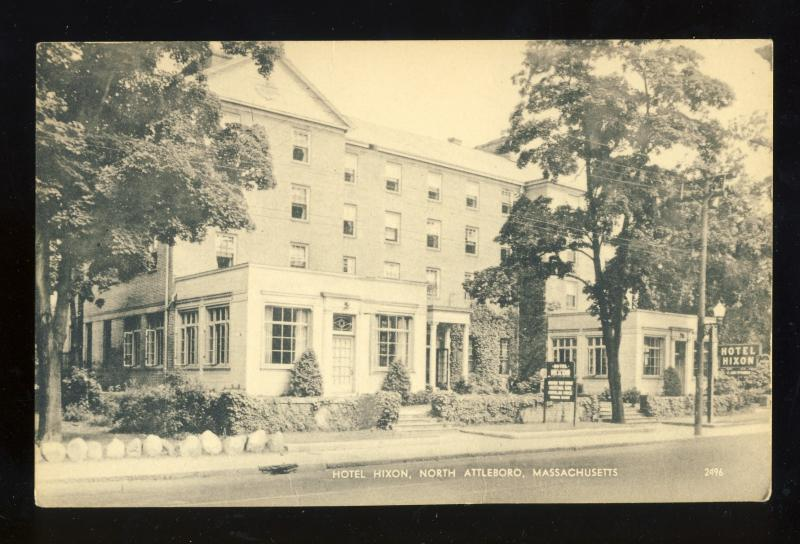 North Attleboro Machusetts Ma M Postcard Hotel Hixon