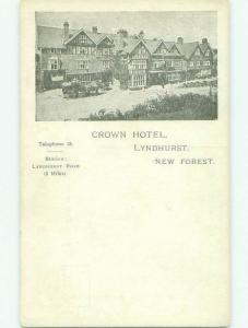 Div-Back CROWN HOTEL Lyndhurst - New Forest National Park In Hampshire UK hr9656
