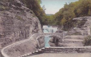 Lower Falls Bridge Over Genesee River Goerge Letchworth State Park New York H...