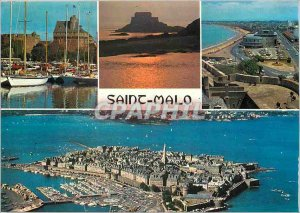 Modern Postcard Saint Malo keep the Be The small beach and the Casino General...