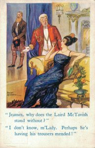 James, Why Does The Laird McTavish Stand Without? Comic Postcard 06.33