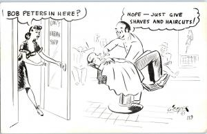 Cooper Comic # 119 - Risque Barber Bob Peters in Here Penis Joke  C12