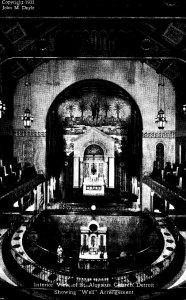 Michigan Detroit Interior View Of St Aloysius Church Showing Well...