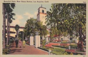 California Los Angeles Union Station Showing Patio