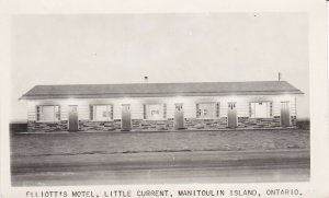 RP: LITTLE CURRENT, Manitoulin Island, Ontario, Canada, 1930-40s; Elliot's Motel