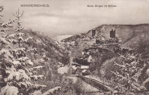 MANDERSCHEID, Germany, 1900-1910's; Beide Burgen Im Schnee