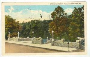Entrance to City Park, Hagerstown, Maryland, PU-1924
