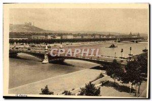 Old Postcard Lyon Rhone and Le Pont Gallieni