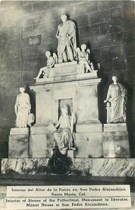 RPPC of Shrine of the Fatherland Monument to Liberator, Santa Marta Columbia