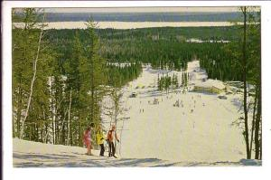 Skiers, Mystery Mountain Ski Area, Thompson, Manitoba, Photo M Neuman