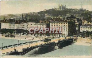 Old Postcard Lyon Pont Morand and Fourviere