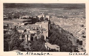 The Alhambra Granada Spain Unused
