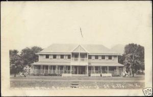 St Kitts, BASSETERRE, Home of Administrator 1920s RPPC
