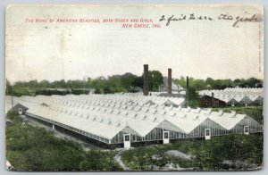 New Castle IN Greenhouses, Home of American Beauty Roses~Fail to See Girls~1907