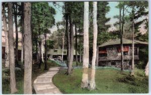 BURLINGTON, Vermont  VT   Handcolored  ALLENWOOD INN  Lake Champlain  Postcard