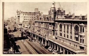 South Africa Durban, West Street, Stuttafords Stores, Rail, Trams, Cars