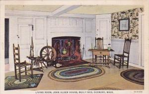 Living Room John Alden House Built 1653 Duxbury Massachusetts